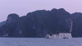 WS Passenger ship in Ha Long Bay / Vietnam