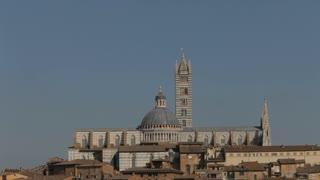 WS Siena Cathedral under blue sky / Siena, Italy