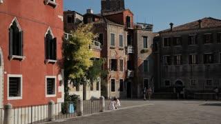 WS TU Small Square with Church Spire / Venice, Italy