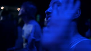 party, holidays, celebration, nightlife and people concept - smiling friends dancing in club or open air