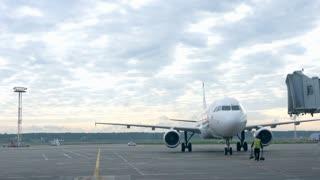 Planes preparing for take off