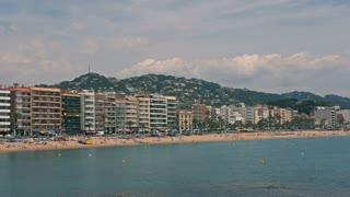 The beaches of Costa Brava in Lloret de Mar, Spain