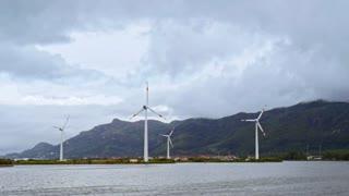 Wind Power Plants in Ocean on Seychelles