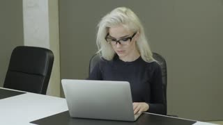 Young Pretty Business Woman With Laptop 1