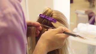 Hairdresser Dye the Hair