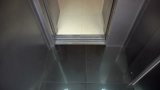 Opening Doors in Modern Elevator