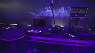 setting for the DJ on stage