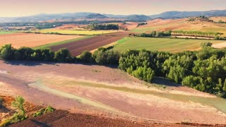 Aerial drone footage - flying over fields 2