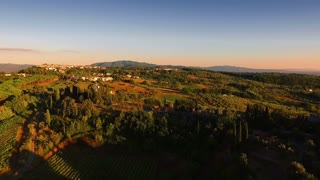 Aerial drone footage - flying over hills 2