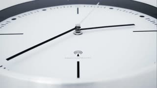 Close up of modern clock time lapse 4 K
