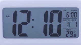 Digital clock time lapse