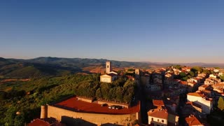 Drone footage - a small village in the mountains 2