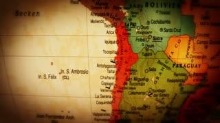 Globe South America - 4k