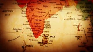 Globe South and Southeast Asia - 4k