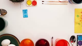 Happy Easter-written with paper letters. Stop motion