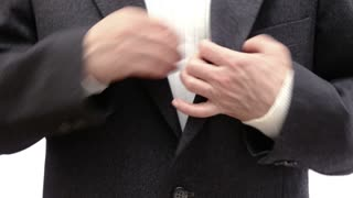 Man takes out his wallet and hands money in the direction of the camera - 4k