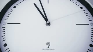 Modern clock time lapse. Top view - 4 K