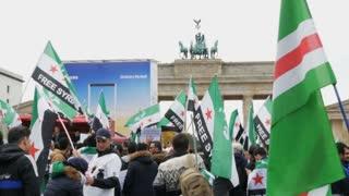 Demonstration of Syrian refugees Berlin, Germany, October 15, 2017