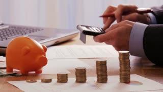 Frustrated businessman making losses