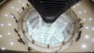 Inside of the Bundestag cupola in Berlin, Germany