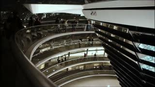 Inside of the Bundestag cupola in Berlin.