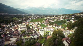 Panoramic view from the mountain Vaduz