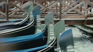 Scenery with Gondolas in Venice, Italy