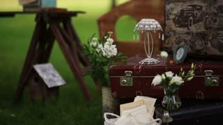 stylish wedding decor for staging the shooting.