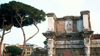 Roman Forum the centre represents district of temples, basilicas and vibrant public spaces in Rome, Italy.