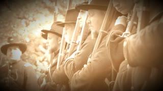 Civil War soldiers getting final orders (Archive Footage Version)