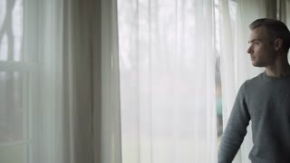 Depressed Man at Window (5 of 9)