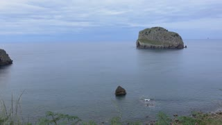 Left pan of the coastline at San Juan de Gaztelugatxe