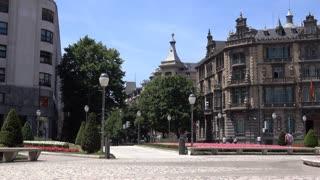 Pan of Moya plaza