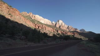 Roadside View in Zion National Park