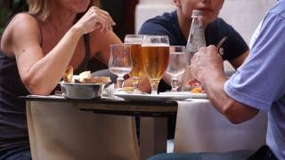 Scenes of People Eating in Rome (2 of 5)