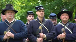 Serious looking Civil War soldiers