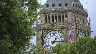 View of Big Ben clock face