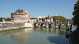 View of the Pont Sant'Angelo Bridge in Rome (2 of 2)