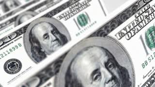 100 dollar bills- Falling dollars