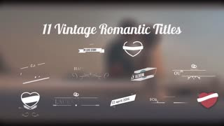 11 Vintage Romantic Titles