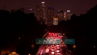 110 Freeway and Downtown Los Angeles Timelapse