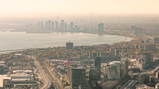 Toronto, Canada, Timelapse  - The West of Toronto during the daytime (Zoom) |  4K timelapse clip of Toronto's West part seen from the CN Tower.