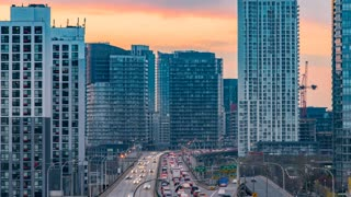 Toronto | 4K timelapse clip of Toronto's Gardiner Expressway Highway at sunset