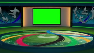 2016 Rio Olympics Sports TV Studio Set 01 - Virtual Green Screen Background Loop
