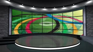 2016 Rio Olympics Sports TV Studio Set 06 - Virtual Green Screen Background Loop
