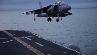 22nd MEU ACE Launches Harriers from USS Bataan