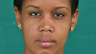 35 Black People Portrait Sad Worried Girl Face Expression