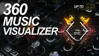 360 Music Visualizer Full HD & 4K