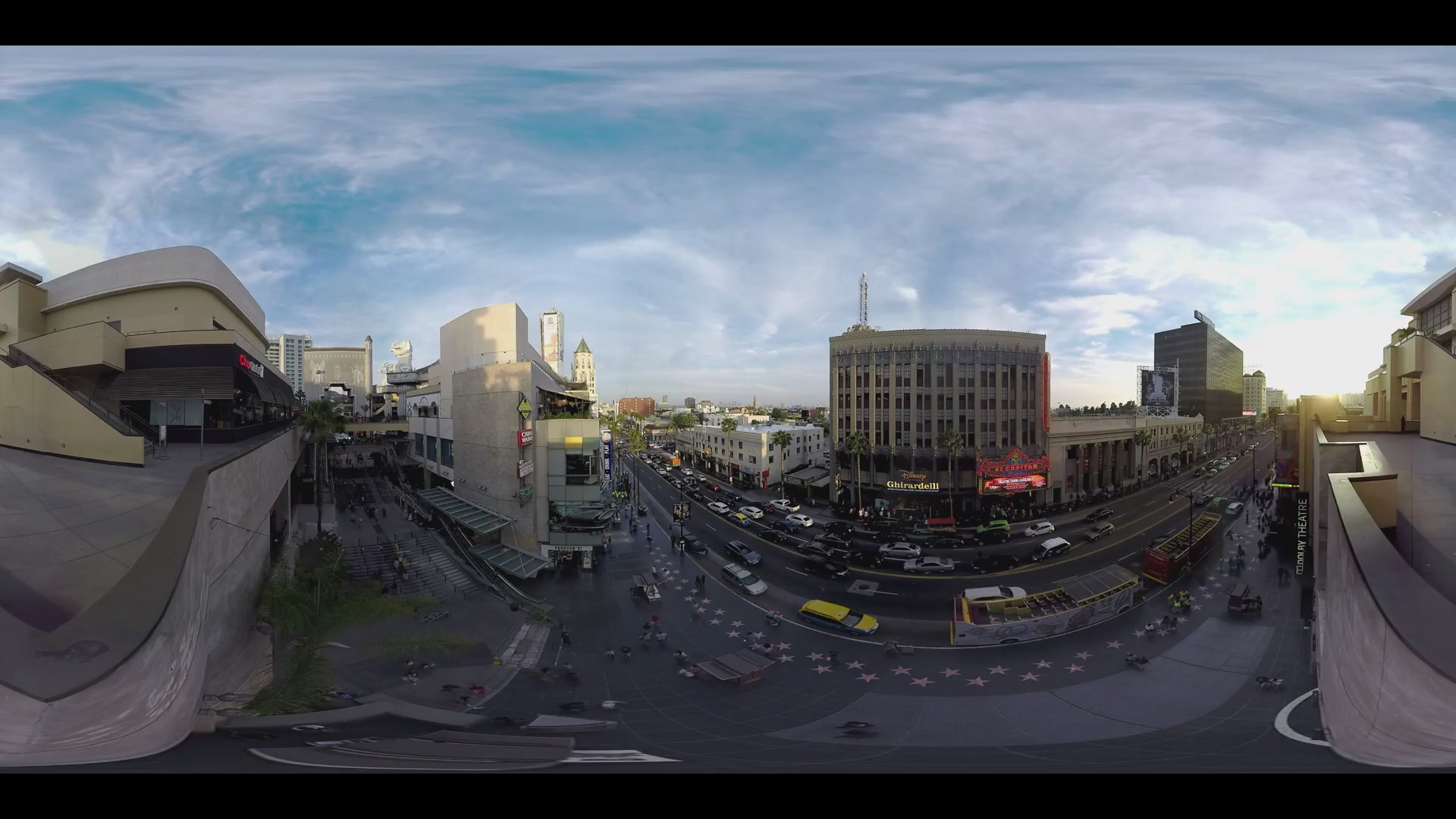 360 Video of Los Angeles Street From Rooftop