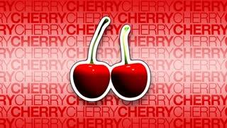 3D Cherries Rotating Background